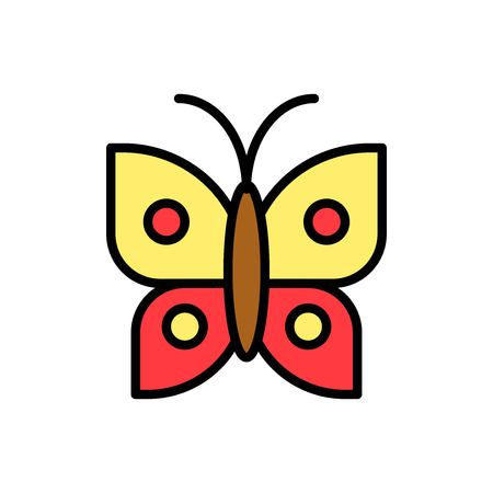 Butterfly vector, Easter filled style icon editable stroke  イラスト・ベクター素材