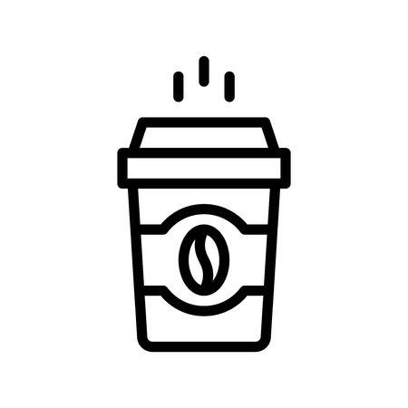 Coffee To Go vector illustration, Beverage line design icon