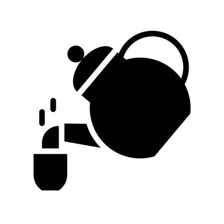 Chinese Tea vector illustration, Beverage solid design icon