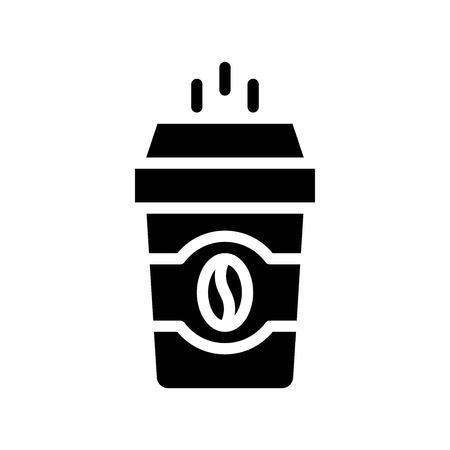 Coffee To Go vector illustration, Beverage solid design icon  イラスト・ベクター素材