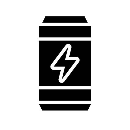 Energy drink vector illustration, Beverage solid design icon