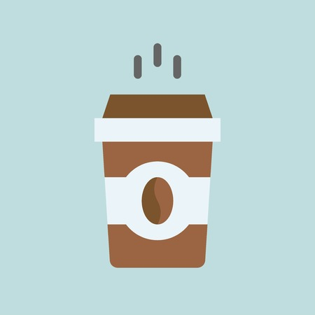 Coffee To Go vector illustration, Beverage flat design icon  イラスト・ベクター素材