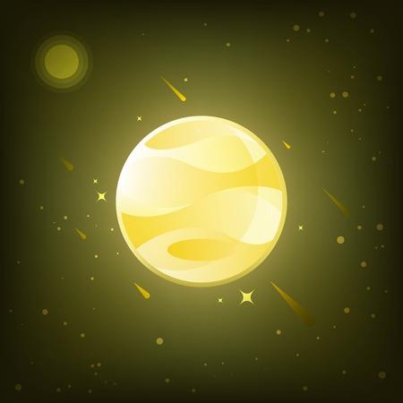 Jupiter, planet in solar system.