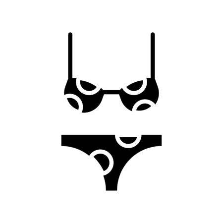 Swimsuit vector, Summer Holiday related solid style icon Ilustração