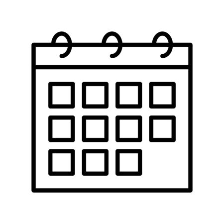 Calendar vector, Summer party related line style icon Ilustração