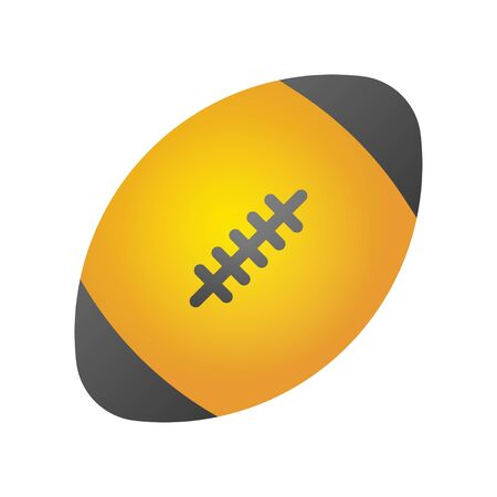 Rugby ball vector, Back to school gradient style icon