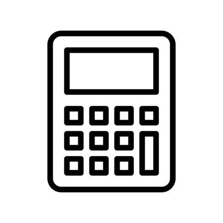 Calculator vector, Back to school line style icon