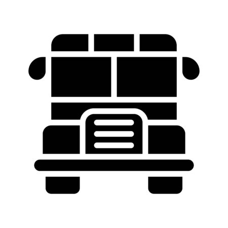 School bus vector, Back to school solid style icon Çizim