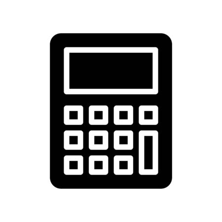 Calculator vector, Back to school solid style icon