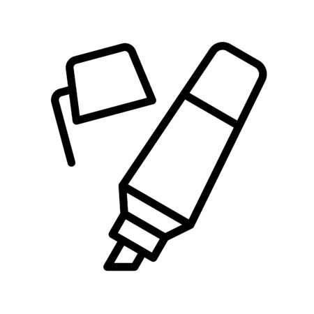 Highlighter vector, Back to school line design icon