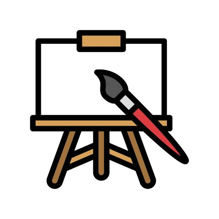 Art vector, Back to school filled design icon Çizim