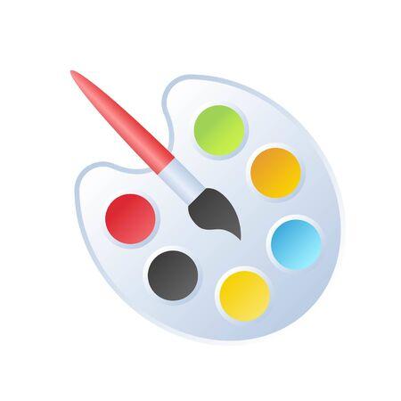 Paintbrush and Palette vector, Back to school gradient design icon Illusztráció