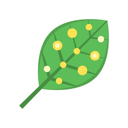 Artificial photosynthesis vector illustration, Future technology flat design icon