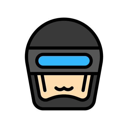 Robot head vector, Robotics related filled style icon 矢量图像