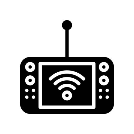 Mobile Internet device vector illustration, Future technology solid design icon