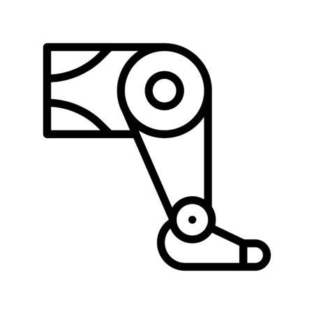 Artificial leg vector, Artificial related line style icon