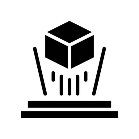 Hologram vector illustration, Future technology solid design icon