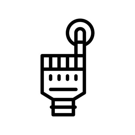Artificial hand vector, Artificial related line style icon