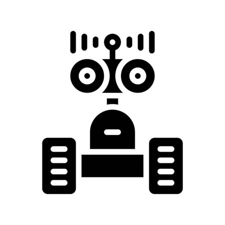 Robot navigation vector, Robotics related solid style icon