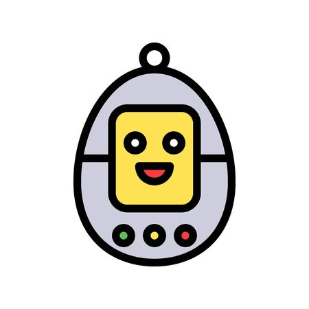 Device vector, Robotics related filled style icon