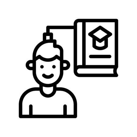 Knowledge transfer vector illustration, Future technology line design icon