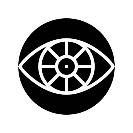 Cyber eye vector, Artificial related solid style icon
