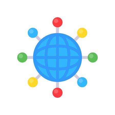 Hologram vector illustration, Future technology flat design icon