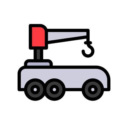 Robotic car vector illustration, Future technology filled design icon