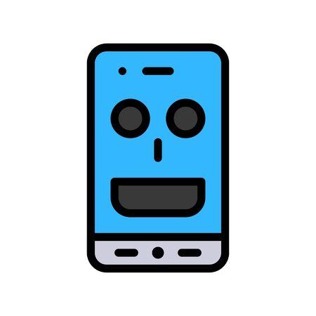 Virtual assistant vector illustration, Future technology filled design icon 免版税图像 - 136139974