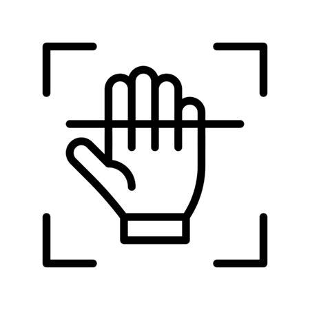 Electronic fingerprint recognition vector illustration, Future technology line design icon