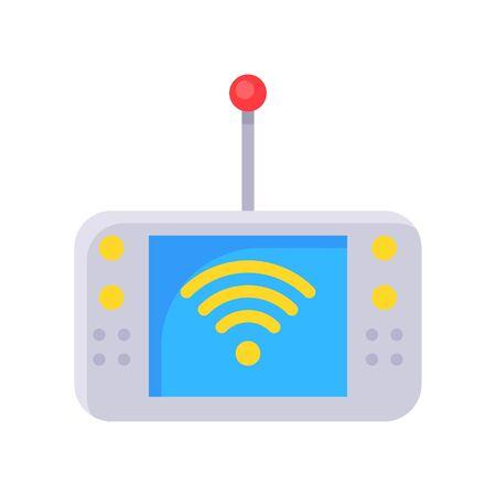 Mobile Internet device vector illustration, Future technology flat design icon