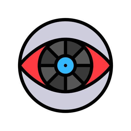 Cyber eye vector, Artificial related filled style icon Иллюстрация