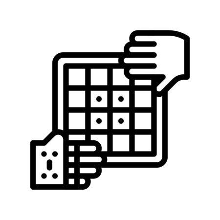 Artificial intelligence vector illustration, Future technology line design icon