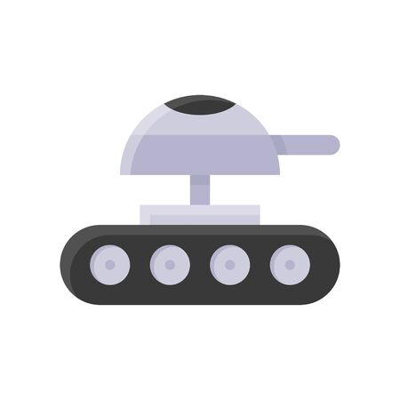 Robot tank vector, Robotics related flat style icon