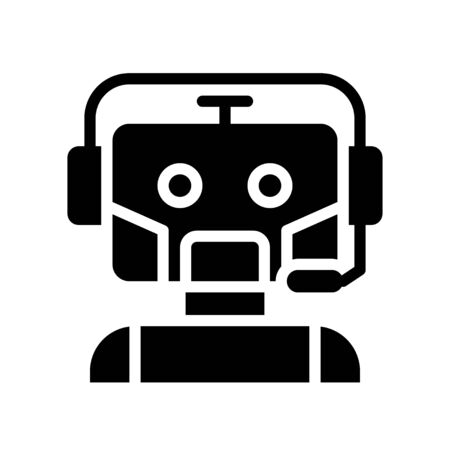 Robot vector, Robotics related solid style icon Ilustrace