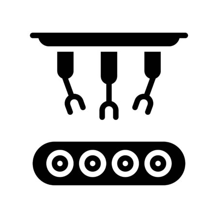 Robotic arm manufacturing vector, Robotics related solid style icon 免版税图像 - 136140000