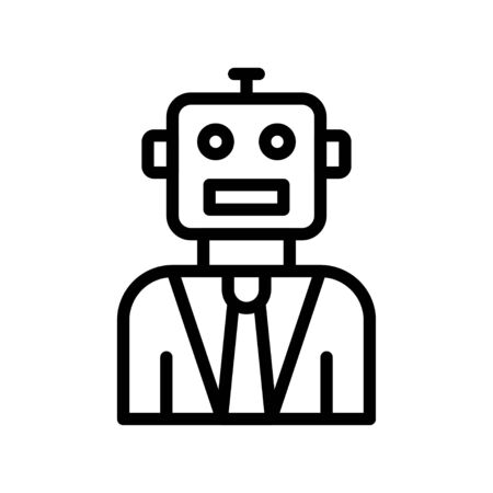 Robot vector, Robotics related line style icon