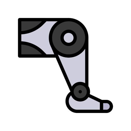 Artificial leg vector, Artificial related filled style icon