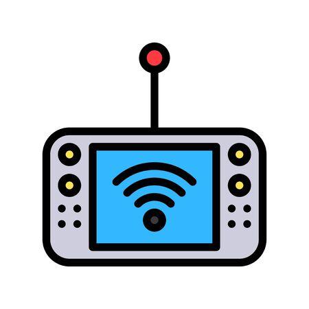 Mobile Internet device vector illustration, Future technology filled design icon