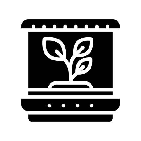 Plant tissue culture vector illustration, Future technology solid design icon