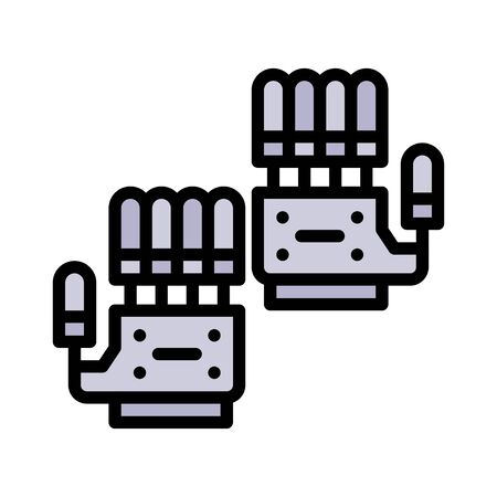 Artificial hand vector, Artificial related filled style icon