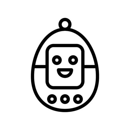 Device vector, Robotics related line style icon