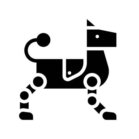 Robot dog vector, Robotics related solid style icon