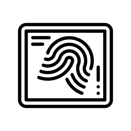 Fingerprint vector illustration, Future technology line design icon Иллюстрация