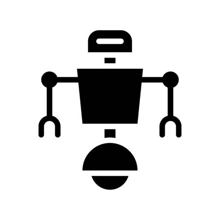 Robot navigation vector, Robotics related solid style icon 免版税图像 - 136140051