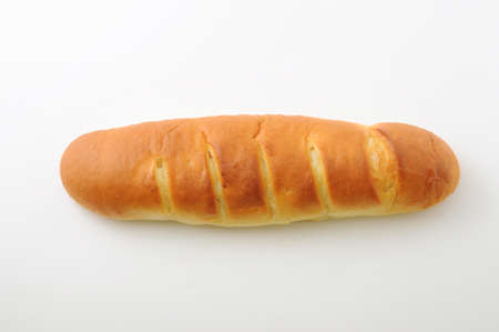 long butter bread isolated on white background Reklamní fotografie