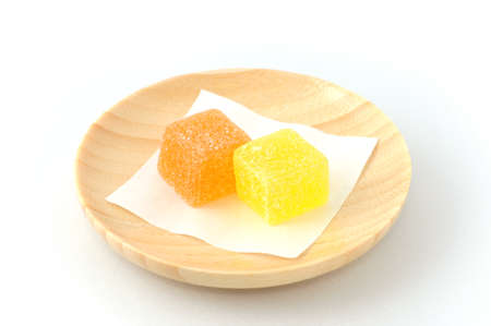 Japanese traditional candies jelly beans for tea time