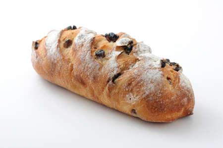raisin bread french pan isolated on white background Reklamní fotografie