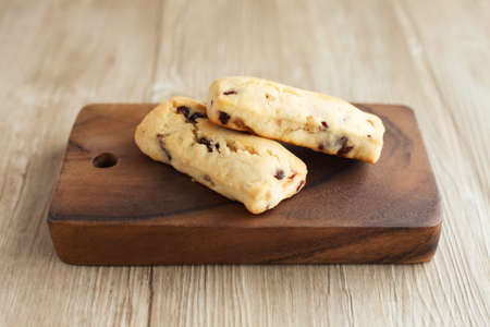 dried fruits scone isolated on table