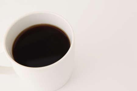 black hot coffee on white background Stock fotó
